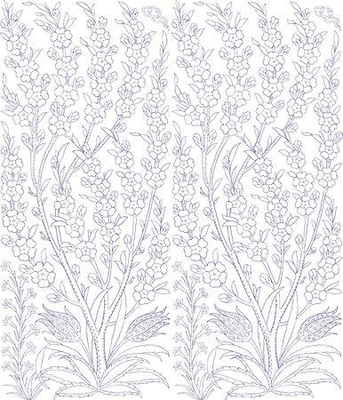earthenware: Traditional Arabic ornament seamless. Floral Ornamental pattern. Iznik . Background. Coloring.