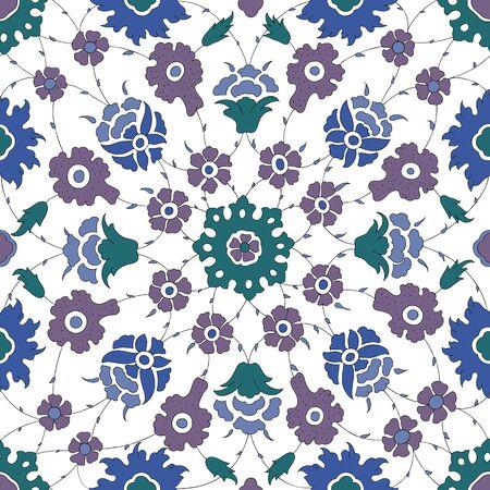 earthenware: Traditional Arabic ornament seamless. Floral Ornamental pattern.