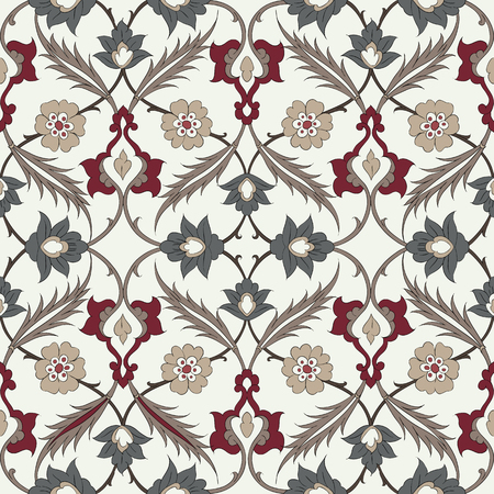 earthenware: Seamless pattern in the traditional Arabic style for your design.