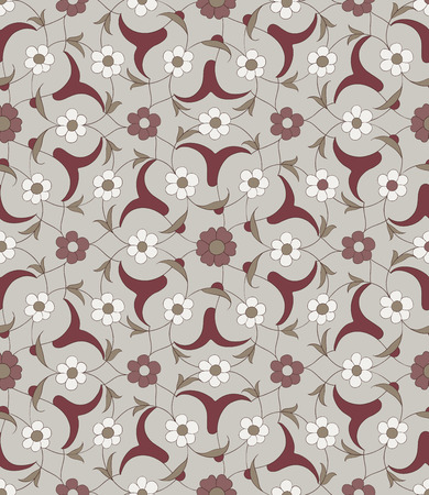 iznik: Seamless pattern in the traditional Arabic style for your design. Floral Ornamental pattern. Iznik  Background Illustration