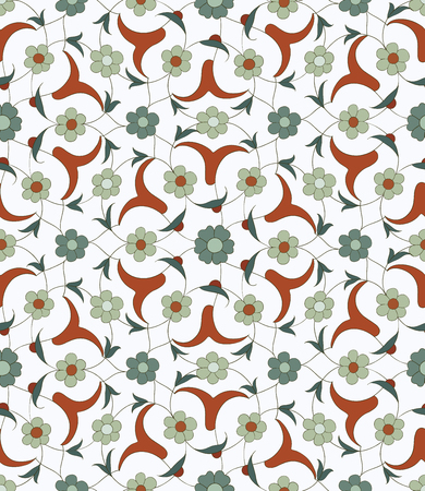 earthenware: Seamless pattern in the traditional Arabic style for your design. Floral Ornamental pattern. Iznik  Background Illustration