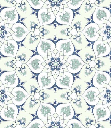 earthenware: Traditional Arabic ornament seamless. Floral Ornamental pattern. Background.  Iznik. Illustration