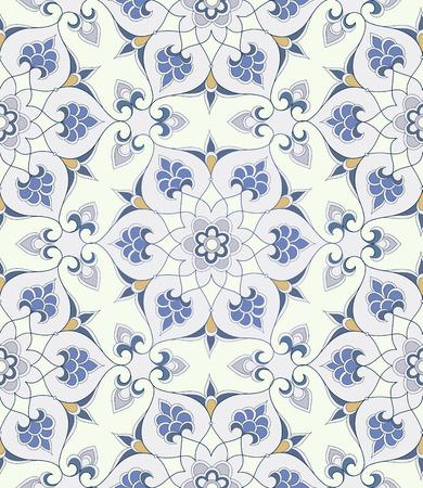 iznik: Traditional Arabic ornament seamless. Floral Ornamental pattern. Background. Iznik.