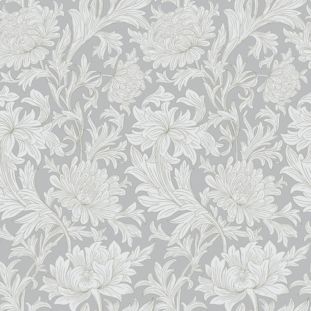 beautify: Modern floral seamless pattern for your design. Print on paper or textile.