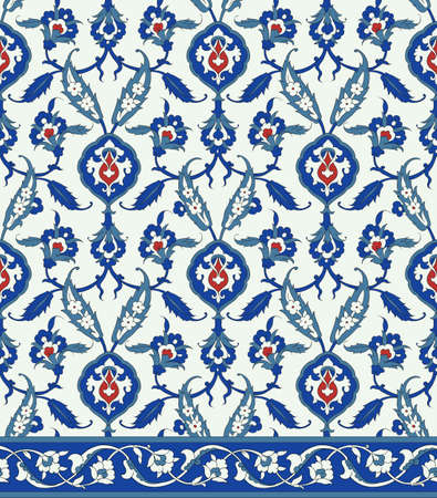 traditional pattern: Traditional Arabic ornament seamless. Floral Ornamental pattern.