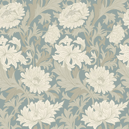 sienna: Modern floral seamless pattern for your design. Print on paper or textile.