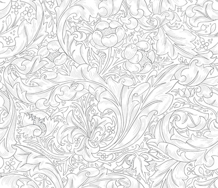 seamless design for coloring book wallpaper textile and drawing print seamless pattern - Coloring Book Wallpaper