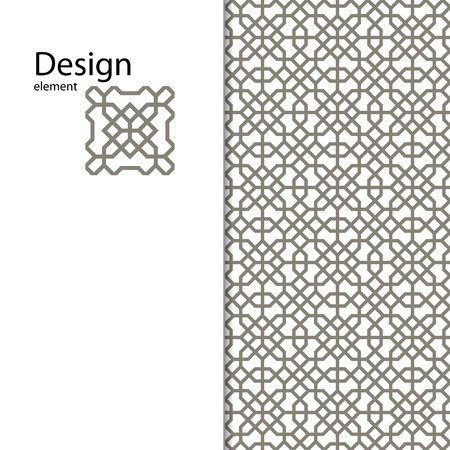 kirigami: Traditional Arabic ornament seamless for your design. Geometric pattern for laser cutting. Laser glass engraving. Desktop wallpaper, interior decoration, graphic design. Vector. Background.