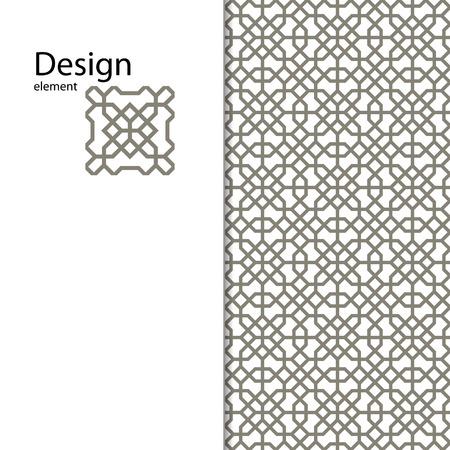 Traditionelle arabische Ornament für Ihr Design nahtlos. Geometrische Muster für das Laserschneiden. Laser Glasgravur. Desktop-Tapeten, Innendekoration, Grafik-Design. Vektor. Hintergrund.