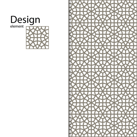 kirigami: Traditional Arabic ornament seamless for your design. Geometric pattern for laser cutting. Laser glass engraving. Desktop wallpaper, interior decoration, graphic design. Illustration
