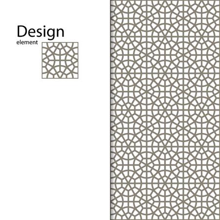 desktop wallpaper: Traditional Arabic ornament seamless for your design. Geometric pattern for laser cutting. Laser glass engraving. Desktop wallpaper, interior decoration, graphic design. Illustration