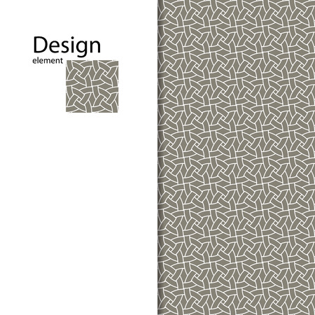 grey abstract background: Traditional Arabic seamless ornament. Geometric pattern seamless for your design. Geometric pattern for laser cutting. Desktop wallpaper, interior decoration, graphic design.