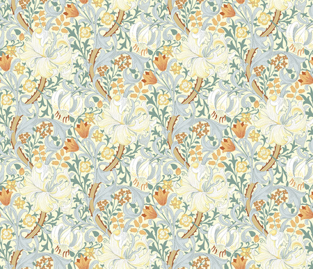 Floral seamless pattern. Wrapping paper, graphic design and textile. Vector illustration. Backgrounds. 向量圖像