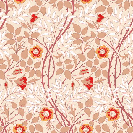 Floral pattern for your design. Wrapping paper, graphic design and textile. Vector illustration. Background.