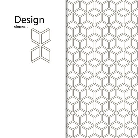 Traditional Arabic seamless ornament. Geometric pattern seamless for your design. Geometric pattern for embossed on the skin. Interior decoration, graphic design. Geometric pattern for sandblasting glass