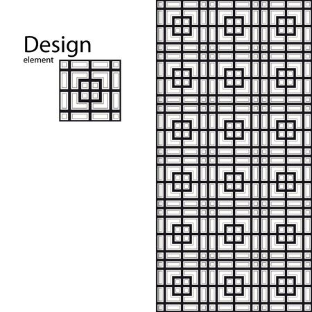 Seamless pattern for your design. Interior design, graphic design. Drawing for sandblasting glass. Printing on fabric.