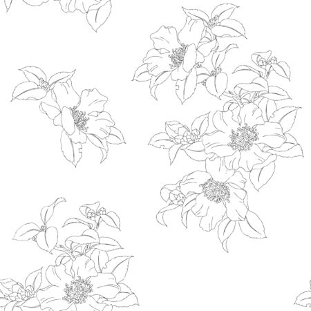 Modern fabric design pattern. Floral pattern for your design. Vector illustration. Wrapping paper, graphic design and textile. Background. Banque d'images - 132211583