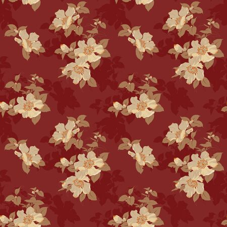 Modern fabric design pattern. Floral pattern for your design. Vector illustration. Wrapping paper, graphic design and textile. Background. Illustration