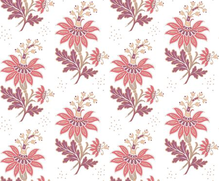 Modern fabric design pattern. Desktop wallpaper. Floral seamless pattern for your design. Modern seamless pattern for interior decoration. Wrapping paper and graphic design. Modern seamless pattern for clothes and textile. Seamless vector illustration Иллюстрация