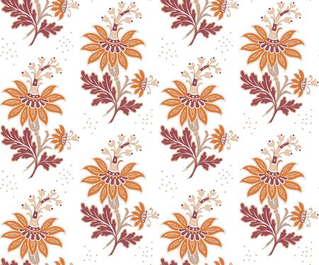 Modern fabric design pattern. Desktop wallpaper. Floral seamless pattern for your design. Modern seamless pattern for interior decoration. Wrapping paper and graphic design. Modern seamless pattern for clothes and textile. Seamless vector illustration Stock Illustratie
