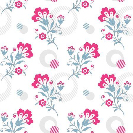 Modern floral seamless pattern for your design. Print on paper or textile. Desktop wallpaper. Vector illustration. Background