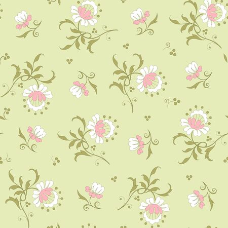 Modern fabric design pattern. Floral pattern for your design. Vector illustration. Modern seamless pattern for interior decoration, wrapping paper, graphic design and textile. Background Illustration