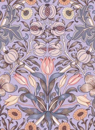 Modern fabric design pattern. Floral pattern for your design. Illustration. Wrapping paper, graphic design, clothes and textile. Vector. Background. Иллюстрация