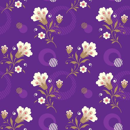 Modern fabric design pattern. Floral pattern for your design. Vector illustration. Modern seamless pattern for interior decoration, wrapping paper, graphic design and textile. Background Иллюстрация