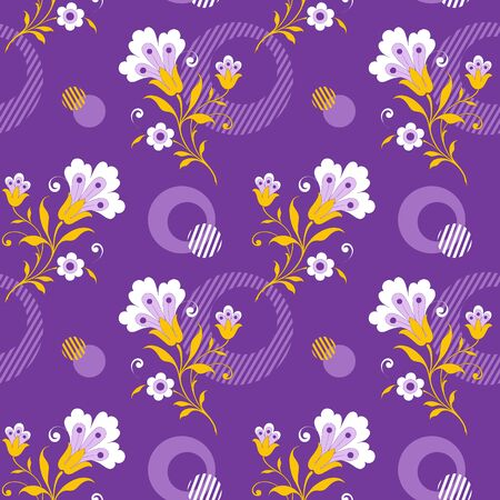 Modern fabric design pattern. Floral pattern for your design. Vector illustration. Modern seamless pattern for interior decoration, wrapping paper, graphic design and textile. Background