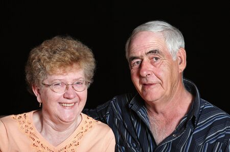 late sixties: Portrait of a senior couple in their mid to late sixties.