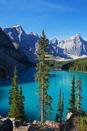 A beautiful morning at Moraine Lake, Banff National Park, Alberta, Canada. photo
