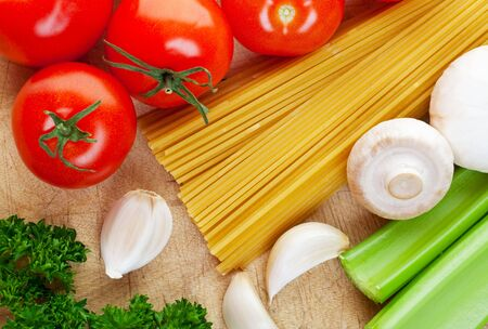 Some of the ingredients needed for cooking Italian food. Stock Photo - 6432677