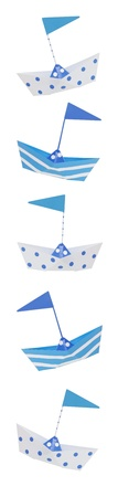 favor:  Nautical themed, old tin boat party favors border, perfect for baby boys and birthdays.  Stock Photo