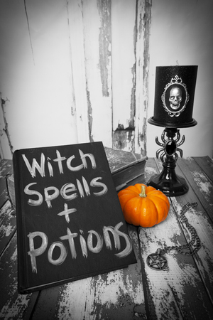 A witch\'s spellbook.