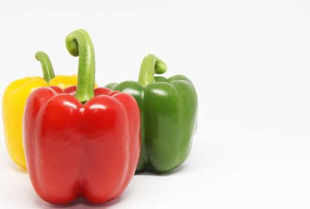 bell pepper on white background Zdjęcie Seryjne