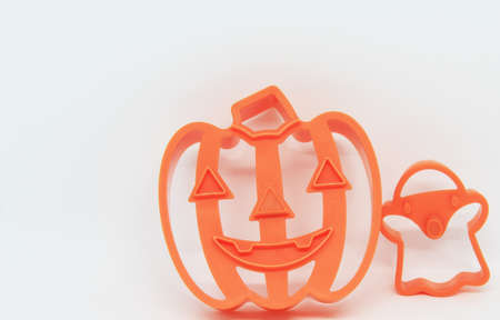 halloween style cookies cutter on white background