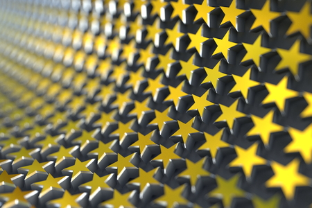 honours: The golden stars align with curve and focus with the shallow depth of field.