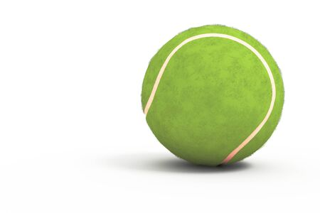 forehand: An isolated tennis ball in the white background.