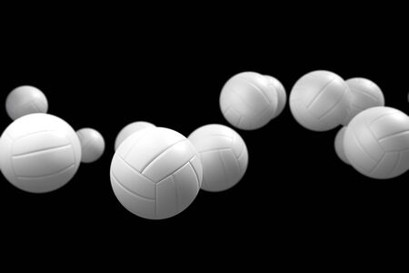 levitation: Levitation of the volleyball isolated in the light-grey background. Stock Photo