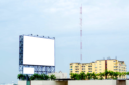 advertise: white blank billboard for commercial advertise