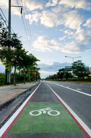 road bike: bike lane, road for bicycles Stock Photo