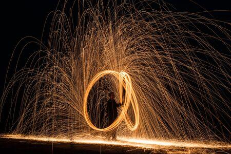 steel wool: Steel wool light painting - briliant fireworks from steel wool