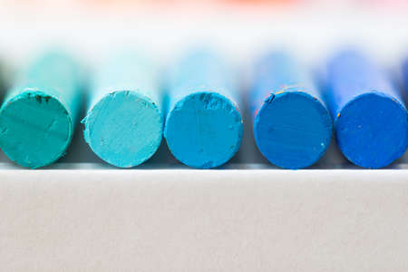 oil pastels: Close up shot of oil pastels Stock Photo