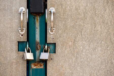 Locked door with key, no entry