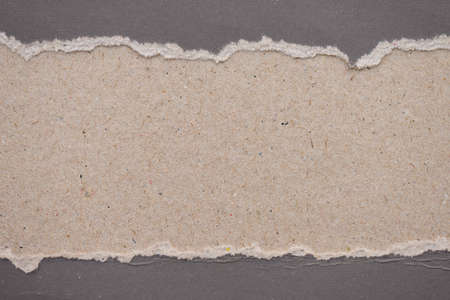 teared paper: Teared, ripped gray paper on brown background