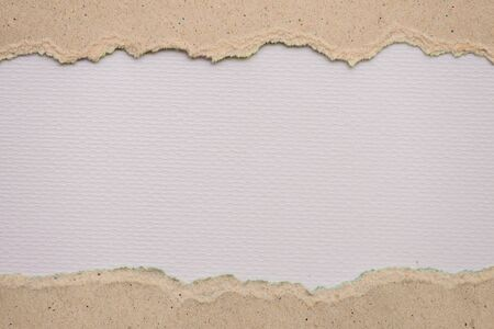 teared paper: Teared, ripped gray paper on white background