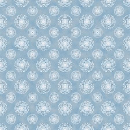 Seamless Blue & White Kaleidoscope Background Wallpaper photo