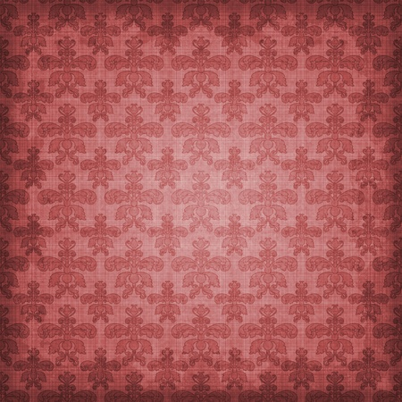 Shaded Rosy Red Pink Damask Background Stock Photo - 12092525