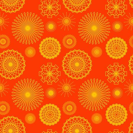 Seamless Bright Kaleidoscope Background Wallpaper