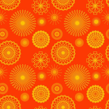 Seamless Bright Kaleidoscope Background Wallpaper